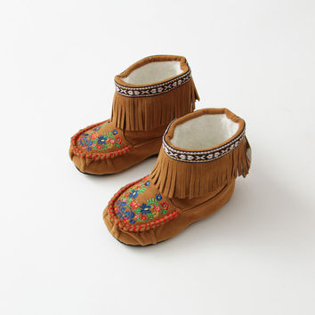 fringed causal boots for girls