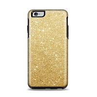 The Gold Glitter Ultra Metallic Apple iPhone 6 Plus Otterbox Symmetry Case Skin Set