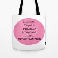 Activism Tote Bag by Grimalkin Studio