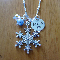 "Frozen Inspired Elsa ""Let It Go"" Frozen Necklace. Frozen gift, Frozen jewelry. Great Frozen Party Favor! Swarovski Crystal."