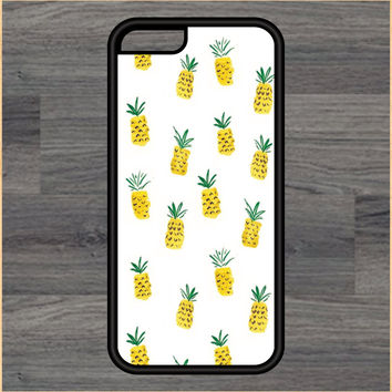 Pineapple Pattern Print Design Art iPhone 4 / 4s / 5 / 5s / 5c /6 / 6s /6+ Apple Samsung Galaxy S3 / S4 / S5 / S6