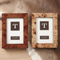 Burled Wood Picture Frame in Various Colors design by Twos Company