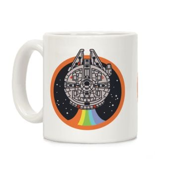 RETRO RAINBOW FALCON MUG