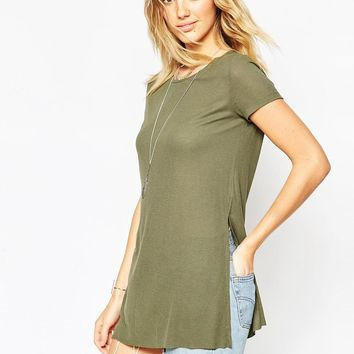 ASOS | ASOS Tunic Top with Side Split at ASOS