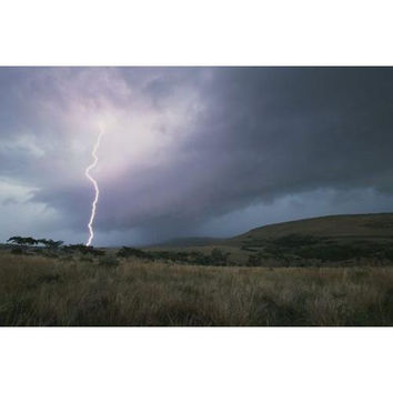 Landscape with lightning near Gladysvale, South Africa