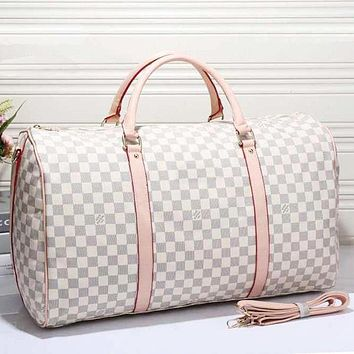 LV Women Leather Luggage Travel Bags Tote Handbag Tagre™