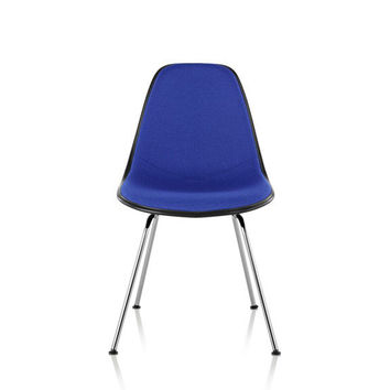 Herman Miller Eames® Molded Plastic Side Chair 4-Leg Base with Upholstered Shell