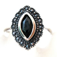 Black Onyx Sterling Silver Ring Vintage