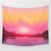 Landscape & gradients XV Wall Tapestry by vivianagonzalez