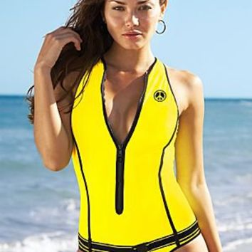 Scuba zipper one piece from VENUS Swimsuit Selection