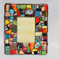 "Mosaic Picture Frame- 13"" x 11"""