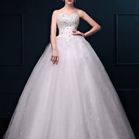2016 New White Wedding Dress Cheap Bridal Gown Custom Size 6 8 10 12 14 16++++++