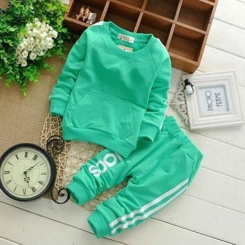 0 2y Cotton Newborn Baby Boy Clothes Baby Girl Clothing Set Suit Toddler Bodysuits Products For Children Sport 2015 Spring  N5 = 1930177924