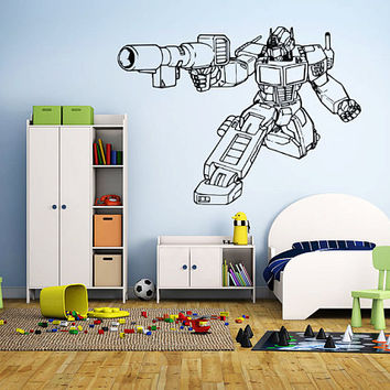 Transformers Wall Decal,Prime Wall Sticker,Bumblebee wall decal,Kids Wall sticker,Bedroom Wall Sticker,Nursery wall decal kau 277