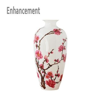 Jingdezhen antique china porcelain Classical Chinese Vase Kaolin Flower Vase Home Decor Handmade Plum Blossoms Vases