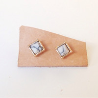 Marble Earrings (Small/Indie Brands)