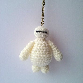 Big Hero 6 Baymax Keychain. PDF file amigurumi crochet pattern. DIY handmade toy.