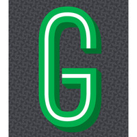 The Letter G, Original Art Print, 11x14, Typography, Alphabet