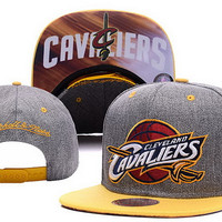 Cleveland Cavaliers 2016 Gray with Gold Blend Logo Cap