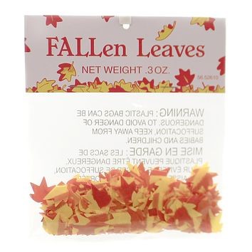 Department 56 Accessory FALLEN LEAVES Fabric Halloween Village 52610 Yellow