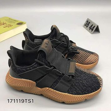 adidas originals prophere Fashion Women/Men Casual Running Sport Shoes Black Brown Soles G-CSXY