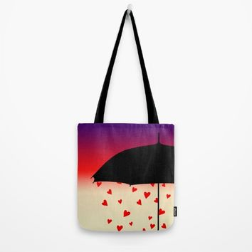 Never Mind The Rain Tote Bag by oursunnycdays