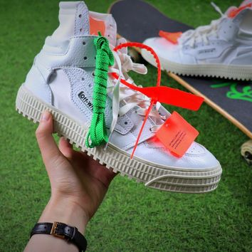 Virgil Abloh Design OFF-WHITE Low 3.0 Hi-Top Sneakers - Best Online Sale