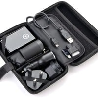 Premium Travel Kit - Includes a 6000mah Portable Power Bank External Battery, Flashlight, Dual USB 2.1a Car Charger, USB to Universal Wall Adapter Charger for Usa, Uk, Eur, Germany,... Plug, USB to Micro USB Cables, Apple 30pin Iphone 4 Cable and Iphone 5