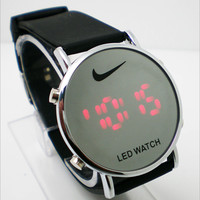 Nike Logo Stylish LED Electronic Watch Stainless Steel Digital Watch(With Thanksgiving&Christmas Gift Box)