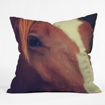 Allyson Johnson Horse Sense 2 Throw Pillow
