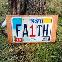FAITH CUSTOM License Recycled Plate Art Sign