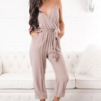 Better Without You Tie Jumpsuit (Fading Rose)