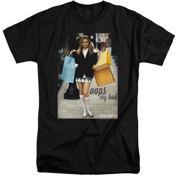 Clueless Tall T-Shirt Cher Oops My Bad Black Tee