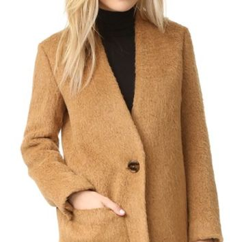 Shaggy Blazer Coat