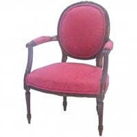 Antique French Damask Armchair | Second Shout Out, Vintage Marketplace
