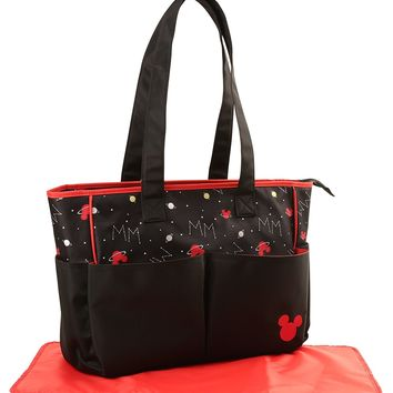 Disney Mickey Mouse Double Pocket Diaper Bag Universe Print