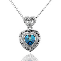 Swarovski Crystal Heart White Gold Plated Necklace
