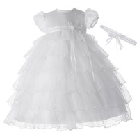 American Originals Tiered Organza Dress - Baby Girl, Size: