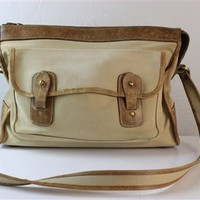 Vintage Original Ghurka Bag No 8 Courier Marley Hodgson made of canvas and leather in brown
