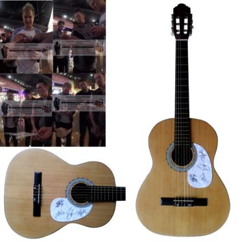 Parmalee Band Autographed Full Size 39 Inch Country Music Acoustic Guitar, Proof