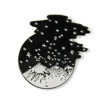 Starry Mountains Pin