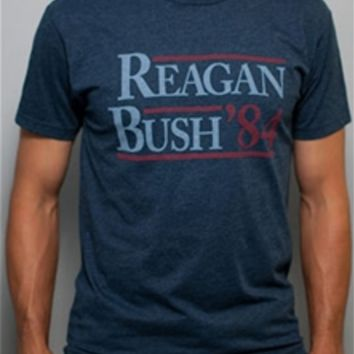 Rowdy Gentleman Reagan Bush 84 Vintage T-Shirt for Men REAGANBUSH