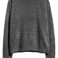 Oversized jumper - Dark grey marl - Ladies | H&M GB