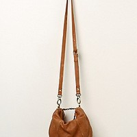 Free People Womens Slouchy Leather Crossbody - Washed Tan, One Size