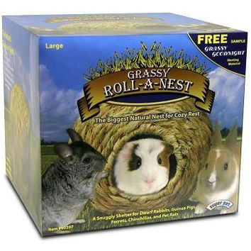 Super Pet Grassy Roll-A-Nest Large