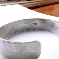 add some love / customize your ring or cuff / add a word to your ring or cuff / secret message / word stamp