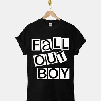 fall out boy DTG ScreenPrint 100% pre-shrunk cotton for t shirt mens and t shirt woman at kahitna