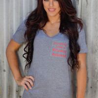 Whiskey Weekend Cotton Tee by Original Cowgirl Clothing Company