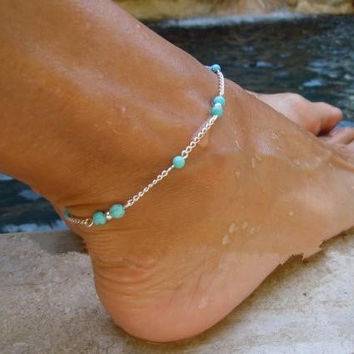 2pcs/lot Bohemian Bead Chain Women Anklet Foot Chain Ladies Girls Anklet Ankle Bracelet Jewelry Fashion Beach Foot Jewelry Gift (With Thanksgiving&Christmas Gift Box)= 5987563201