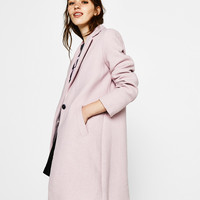 Wool coat - Coats - Bershka United Kingdom